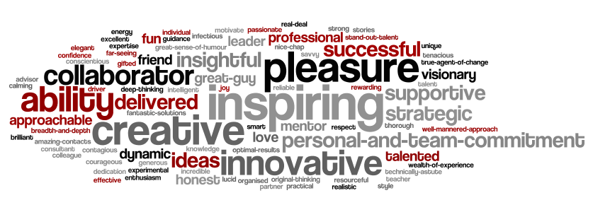 What clients, colleagues and collaborators say about me and my work