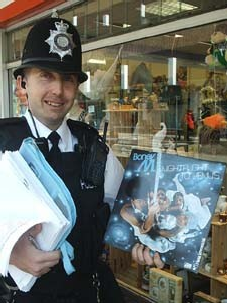 Policeman with BoneyM LP